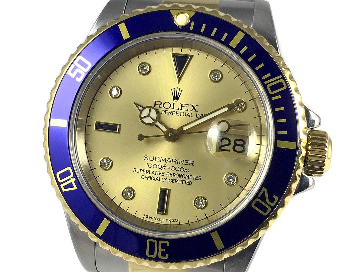 9d9c97d37ea RELOJ Rolex Submariner 16613 - Serti Dial - Icone Watches - Compra ...